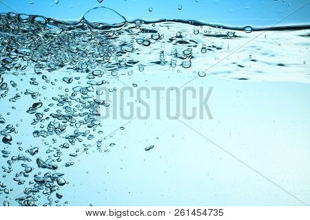 Fresh Water With Underwater Bubbles Texture Background