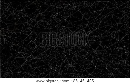 Wireframe Polygonal Abstract Mesh.  Vector Polygon Which Consist Of Triangles. Geometric Dark Backgr