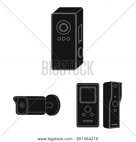 Vector Illustration Of Cctv And Camera Sign. Collection Of Cctv And System Stock Symbol For Web.