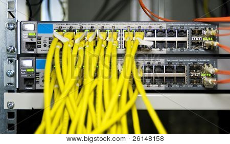 Server configuration connecting web servers to the internet poster