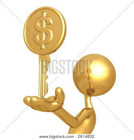 Gold Dollar Coin Key