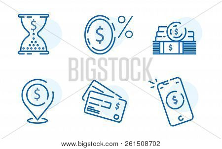Payment Methods, Financial Items Set, Zero Percent Commission Fee, Credit Card Money Transaction, Pa