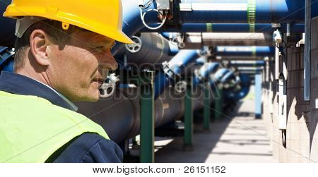 Maintenance engineer at the waste water management system of a huge factory