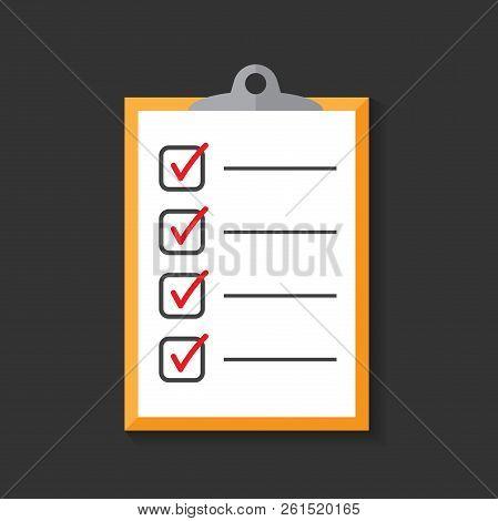 To Do List Icon. Checklist, Task List Vector Illustration In Fla