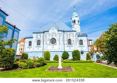 The Blue Church Or The Church Of St. Elizabeth Or Modry Kostol Svatej Alzbety In The Old Town In Bra