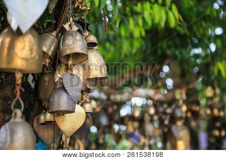 Ring Bells In Temple. Bell Sound Is Auspicious Which Welcome Divinity And Dispels Evil. Bells Symbol