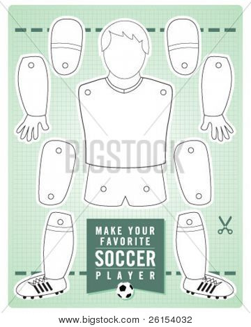 SOCCER PLAYER do it yourself kit