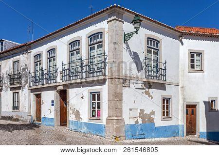 Santarem, Portugal - September 11, 2017: Casa do Brasil aka Pedro Alvares Cabral House. Cultural Center in Santarem using Pedro Alvares Cabral family house