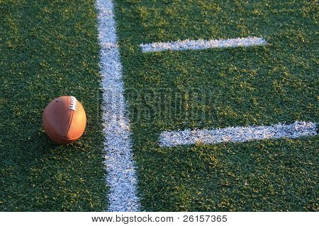 Football near the yardline