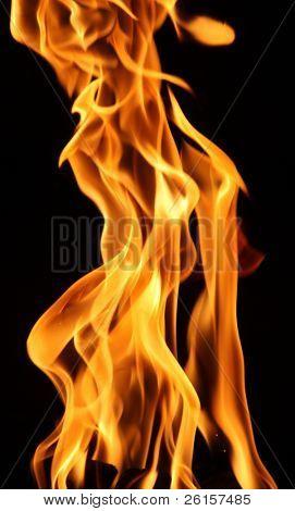 Flame detail against black