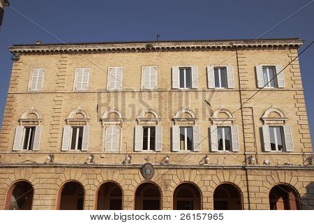 town hall of Monteprandone, marche region, Italy