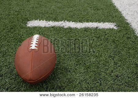 American Football near the hashmark