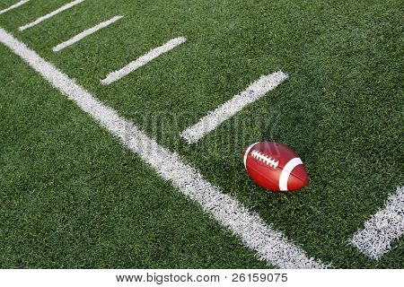 American football near the hashmarks