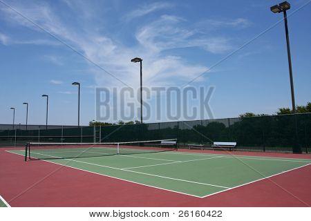 Outdoor Tennis Court Facility