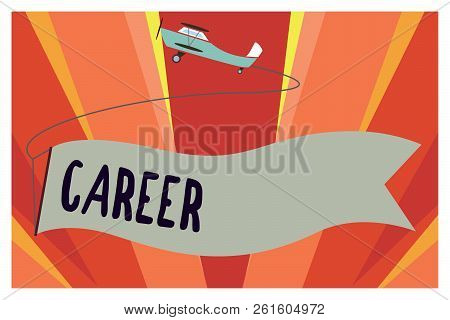 Conceptual Hand Writing Showing Career. Business Photo Showcasing Undertaken For Period Persons Life