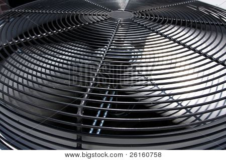 Spinning air conditioner fan