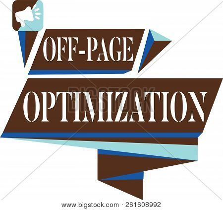 Text Sign Showing Off Page Optimization. Conceptual Photo Website External Process Promotional Metho