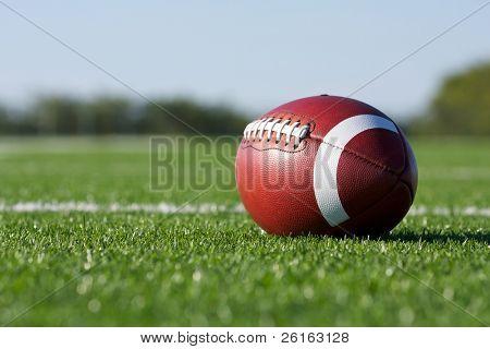 American Football mit dem Feld über
