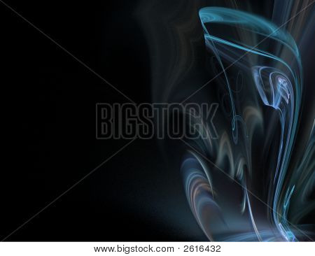 Abstract Blue Smoke On Black