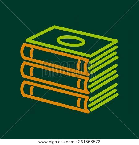 Foreign Books Icon. Outline Illustration Of Foreign Books Icon For Web