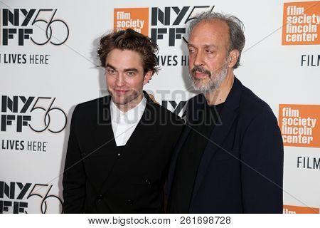 NEW YORK - OCT 2: Actor Robert Pattinson (L) and Director of NYFF Kent Jones attend the
