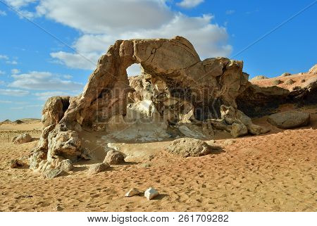 The Sahara Desert, Western White Desert, Gabel El Cristal, Cristal Mountain. Egypt. Africa. Natural
