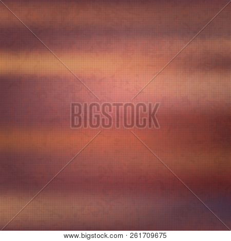 Brown Grunge Wall For Texture Background, Abstract Background Border,  Background With Vintage Grung