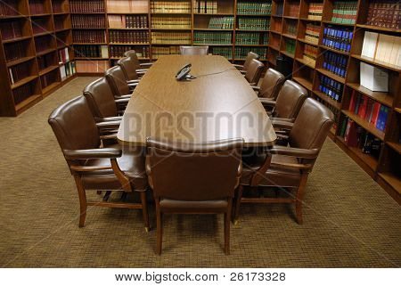 Conference Table in Library