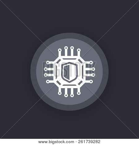 Cryptography, Cyber Security Vector Icon, Eps 10 File, Easy To Edit