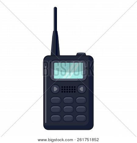 Portable Handheld Radio Icon. Cartoon Illustration Of Portable Handheld Radio Icon For Web