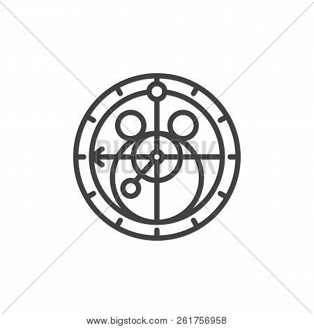 Astronomical Instrument Outline Icon. Linear Style Sign For Mobile Concept And Web Design. Armillary