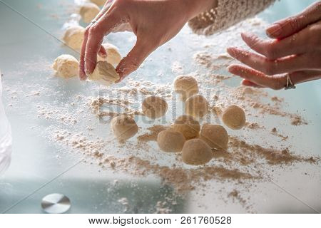 Woman Works With Dough, Babble Lazy Dumplings