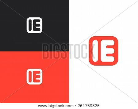Initial Letters Ie Logo Design Template Elements