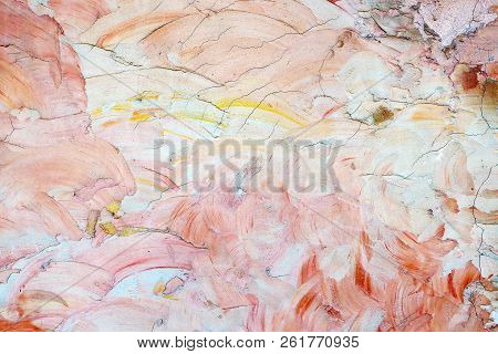 Colorful Cement Wall Texture For Background, Floor