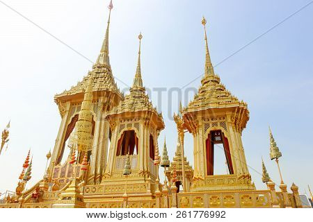 Bangkok, Thailand - November 04, 2017; Some Of Beautiful The Supplementary Structures Around The Roy