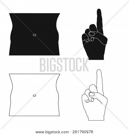 Vector Illustration Of Human And Part Sign. Collection Of Human And Woman Vector Icon For Stock.