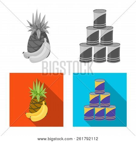 Vector Illustration Of Food And Drink Logo. Collection Of Food And Store Stock Vector Illustration.