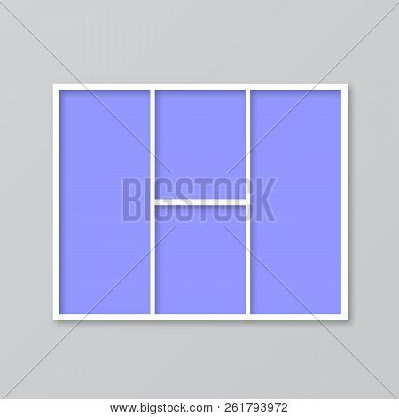 Frame Photo Collage. Mood Board Vector Illustration. Timeline For Photographers. Cover For Blog Boar