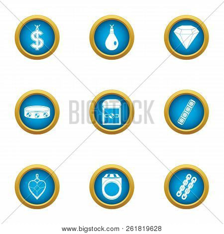 Buying Love Icons Set. Flat Set Of 9 Buying Love Vector Icons For Web Isolated On White Background