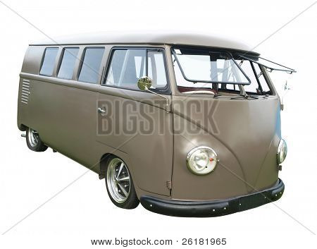 1958 Volkswagen Combi Van isolated with clipping path
