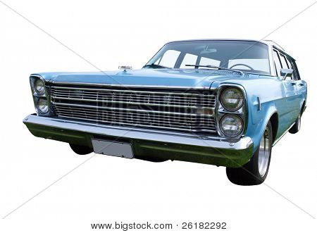 1966 Sedan isolated with clipping path