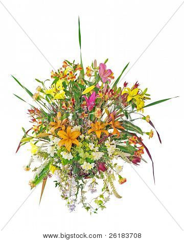 Large Floral Arrangement isolated with clipping path