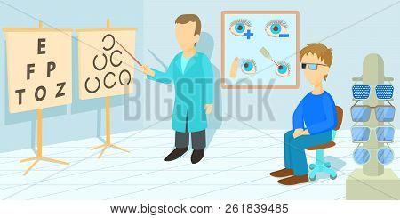 Vision Correction Horizontal Banner Concept. Cartoon Illustration Of Vision Correction Horizontal Ba