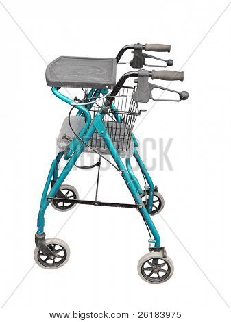 Wheeled Zimmer Frame isolated with clipping path