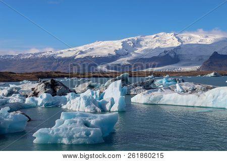 Jökulsárlón Glacier Lagoon In Southern Iceland