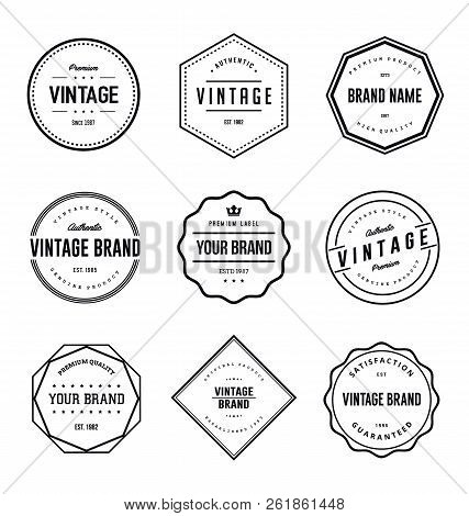 Vintage Brand Label Vector Set. Vintage Logo Label Vector
