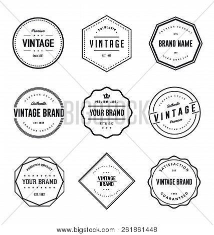 Vintage Brand Label Vector Set. Vintage Logo Label Vector