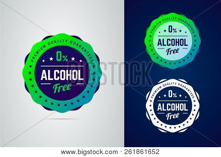 Premium Quality Guarantee Non-alcoholic Product Vector Label.