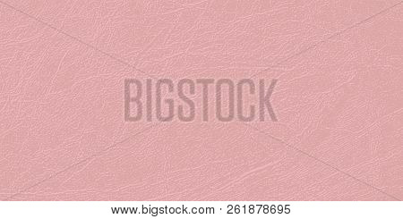 Colored skin texture, natural or faux leather background.  Vector backdrop. Delicate pallid shade of Mellow Rose. Pale pink leatherette, closeup. Modern, fashionable color. poster