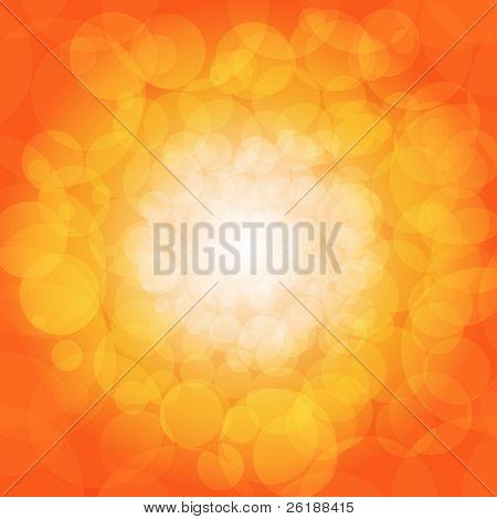 Fondo de luces brillantes naranja